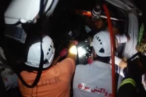 واژگونی پژو پارس در خیابان امام خمینی اصفهان ۵ مصدوم برجا گذاشت