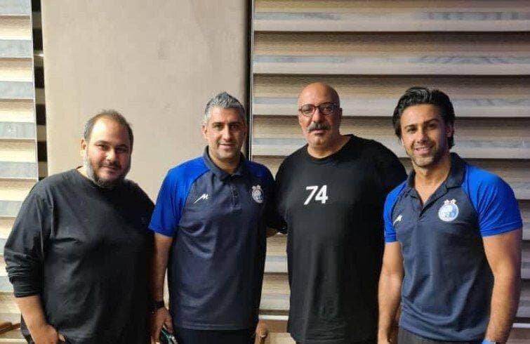 حضور امیر جعفری و رضا داودنژاد در هتل محل اقامت استقلالیها