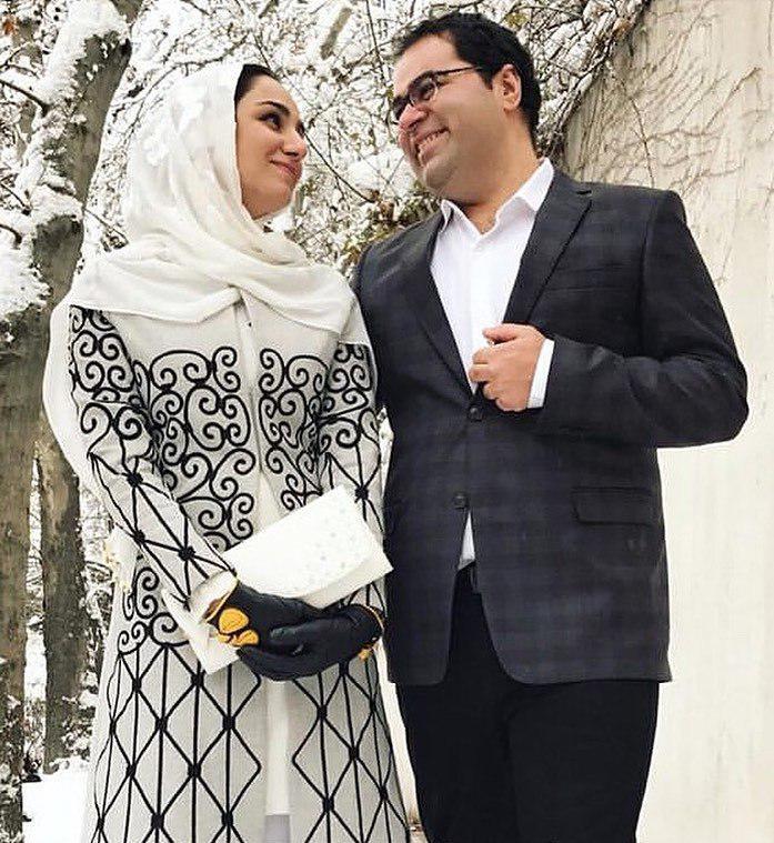 چهرهها/ عکسی دردناک از زنده یاد ریحانه یاسینی در کنار همسرش در روز عقدشان
