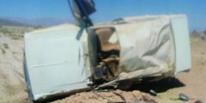 ۲ کشته و زخمی بر اثر واژگونی پیکان در محور قدیم نیشابور_سبزوار