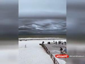 آسمان باورنکردنی در بالای ساحل فلوریدا