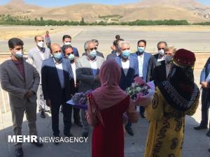 وزیر میراث فرهنگی سفر ۲ روزه خود به کردستان را از سنندج آغاز کرد