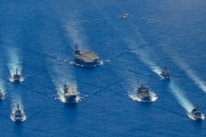 رزمایش آمریکا و سه کشور دیگر در اقیانوس آرام آغاز شد