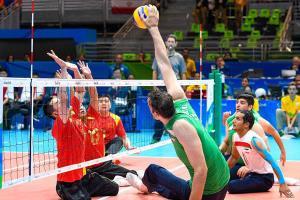 دیدار تدارکاتی تیم ملی والیبال نشسته با قهرمان اروپا در تهران
