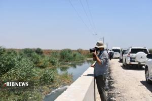 عکس/ بازدید خبرنگاران و عکاسان خوزستانی از تالاب هورالعظیم