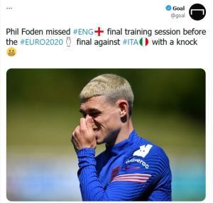 غیبت احتمالی ستاره تیم ملی فوتبال انگلیس در دیدار فینال یورو