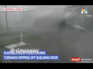 لحظه کندهشدن سقف خانهها توسط طوفان السا در فلوریدا