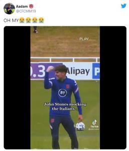 تمسخر ایتالیاییها توسط بازیکن تیم ملی انگلیس