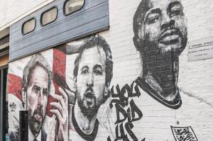نقاشی دیواری دیدنی از تیم ملی انگلیس