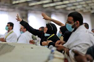 مراسم رمی جمرات حجاج عربستانی