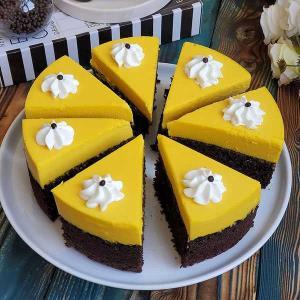 طرز تهیه چیز کیک زعفرانی خوشمزه و مخصوص با پایه کیک