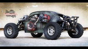 خودروی دستساز کوچک با موتور 8 سیلندر توربو!
