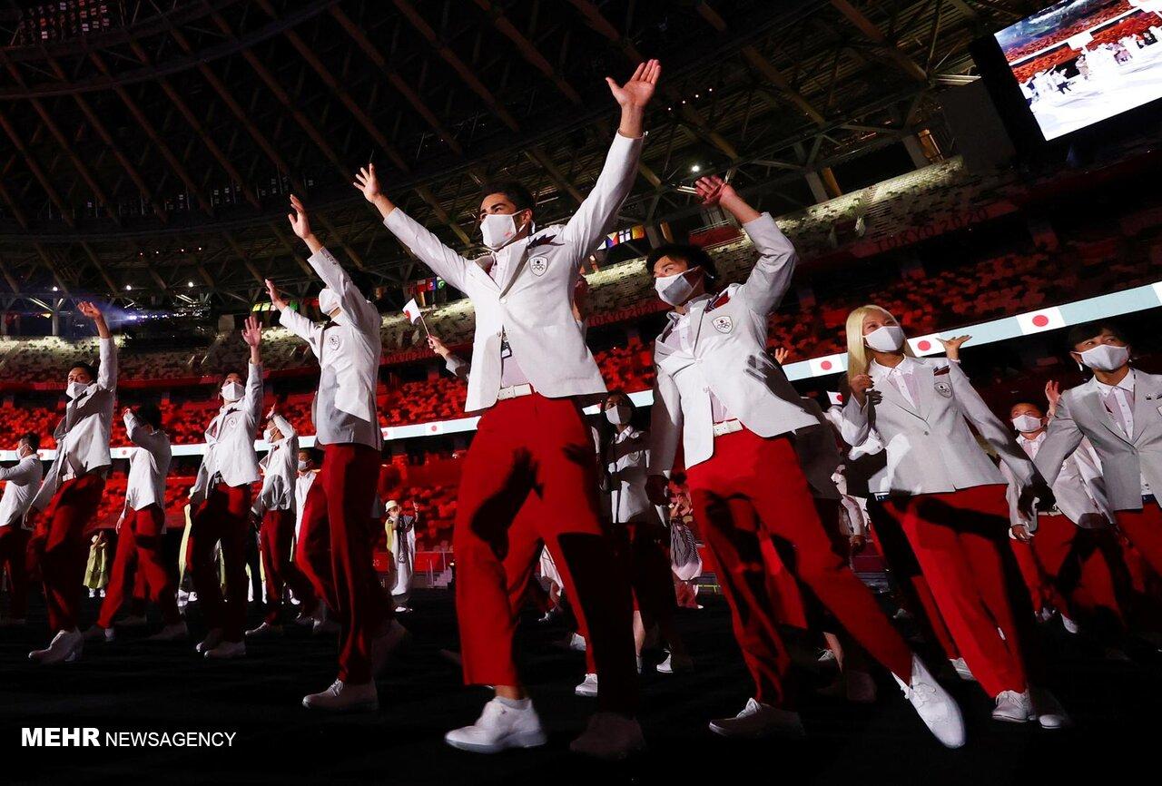 تصاویری متفاوت از مراسم افتتاحیه المپیک توکیو