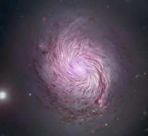 نقش مهم میادین مغناطیسی در شکلگیری کهکشانهای مارپیچی