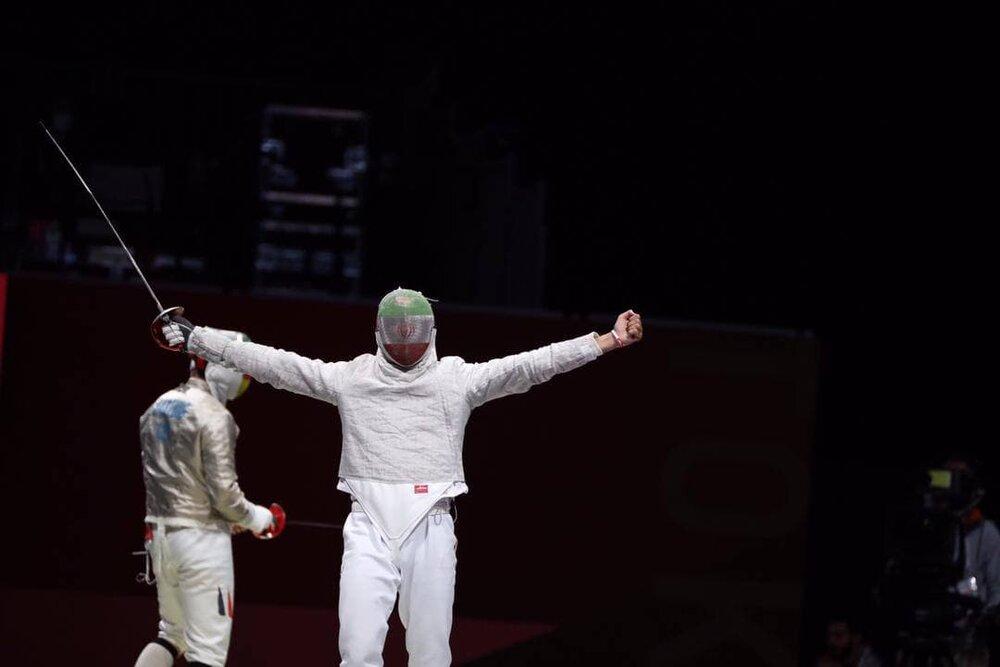 شادی خاص علی پاکدامن پس از پیروزی مقابل حریف آلمانی