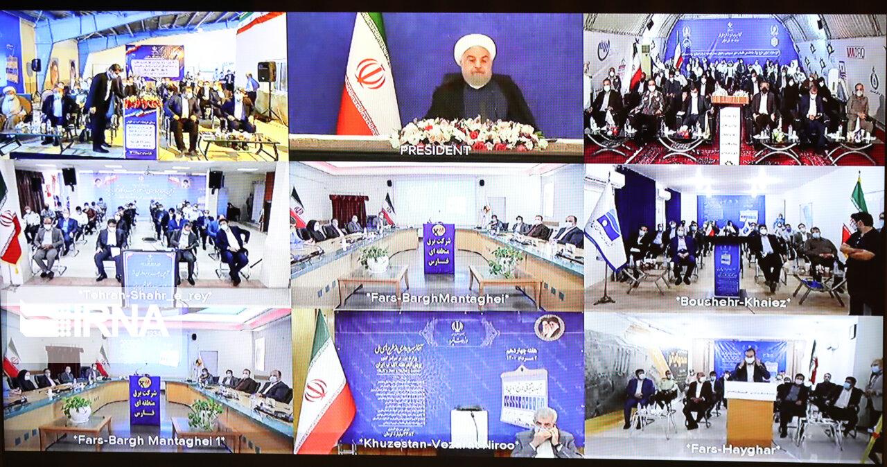 آیین افتتاح طرح های ملی وزارت نیرو در سراسر کشور