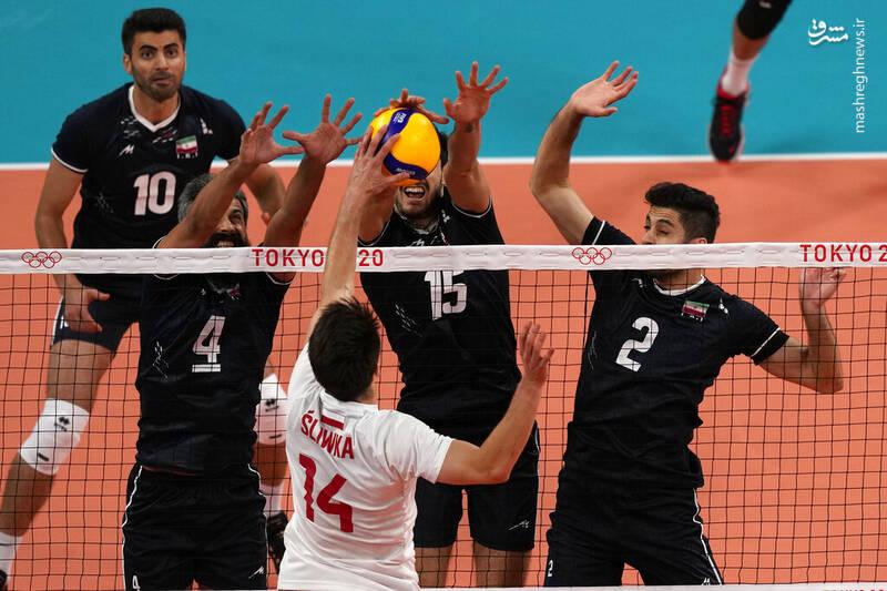 عکس/ دیدار والیبال ایران و لهستان در المپیک توکیو