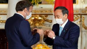 مکرون با نخست وزیر ژاپن دیدار کرد