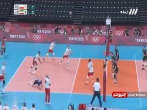 برد بزرگ والیبال ایران مقابل لهستان در رقابتی نفسگیر