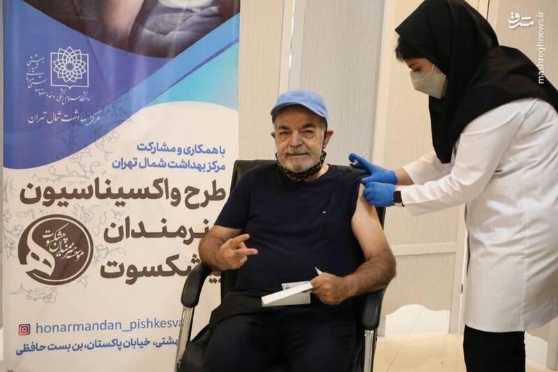 عکس/ واکسن زدن حمید لولایی