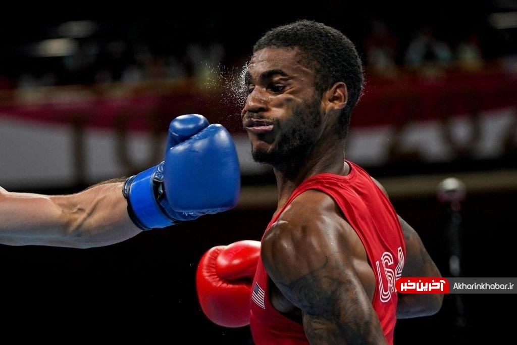 عکس/ ضربه کاری در رقابت های بوکس المپیک
