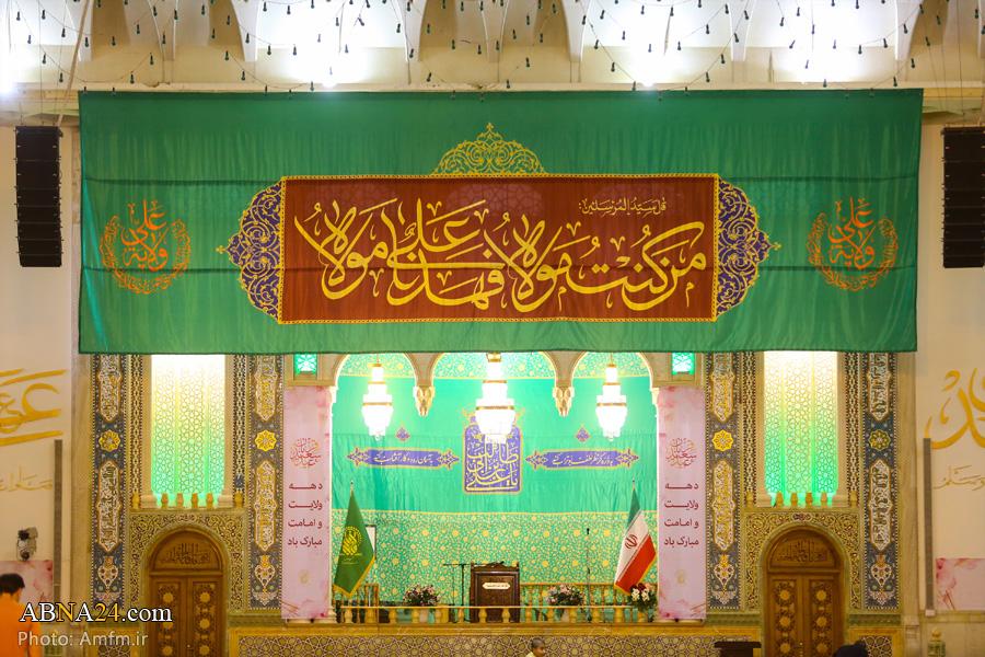 عکس/ سبز پوش شدن حرم حضرت معصومه(س) در آستانه عید غدیر