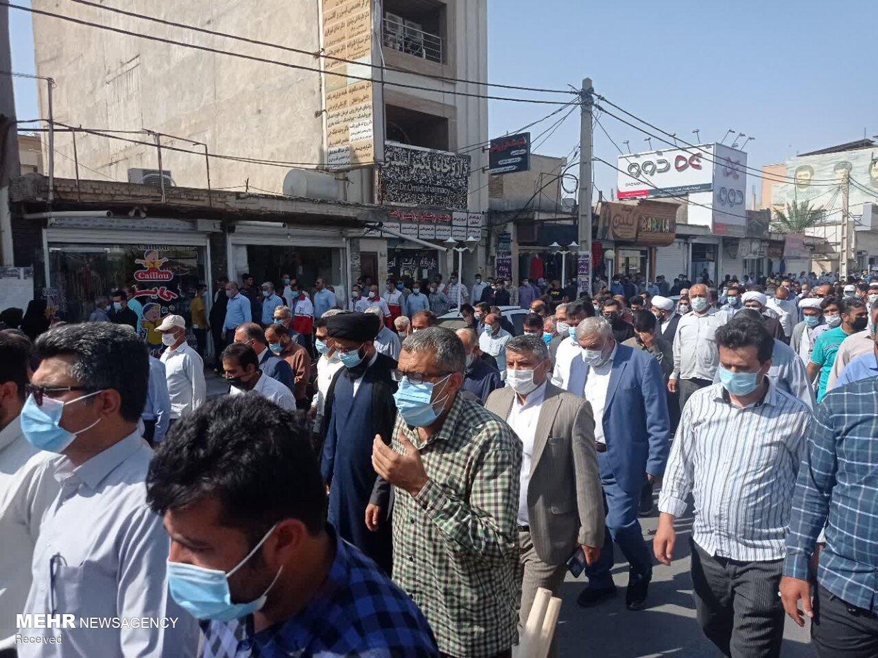 عکس/ راهپیمایی و تجمع وحدت آفرین مردم شهرستان ایذه