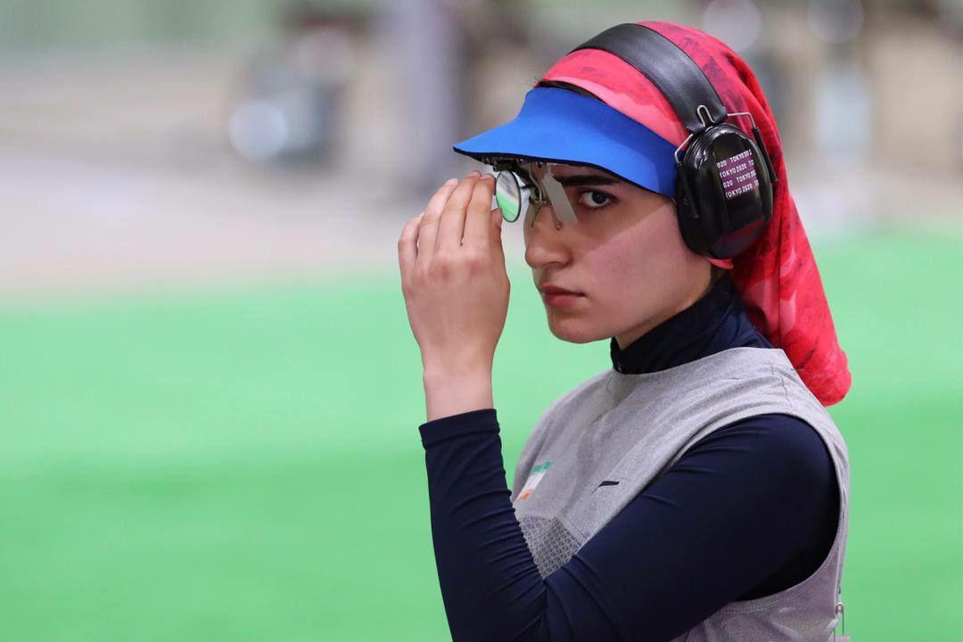 عکس/ بانوی تیرانداز ایران در رقابت های المپیک
