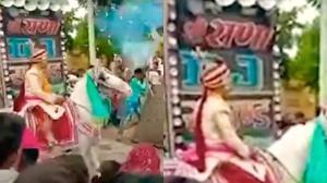 فرار اسب از جشن عروسی، داماد را به دردسر انداخت!