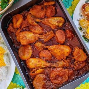 طرز تهیه خورش آلو مسما شیرین قاتق به روش شمالی با مرغ