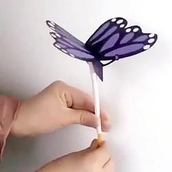 کاردستی پروانه حرکتی برای سرگرمی در تابستان