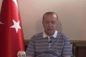 چُرت اردوغان وسط پیام زنده ویدئویی!