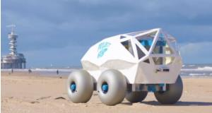 ربات کوچکی که سواحل را پاکسازی میکند