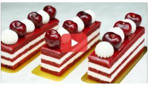 آموزش تهیه چیز کیک آلبالو