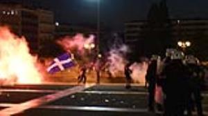 درگیری در خیابانهای پایتخت یونان بخاطر اعتراض به واکسیناسیون اجباری
