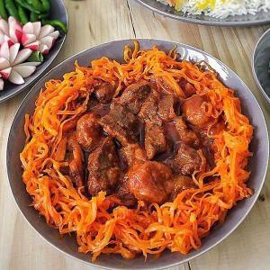 طرز تهیه خورش هویج خوشمزه و مخصوص به روش تبریزی