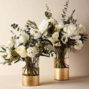 ترفند تزئین گلدان و جاشمعی