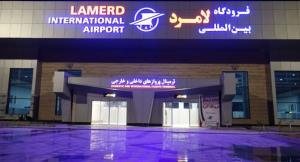 توفان به تاسیسات فرودگاه لامرد فارس زیان رساند