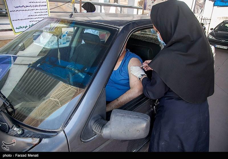 عکس/ تزریق خودرویی واکسن کرونا در کرمانشاه