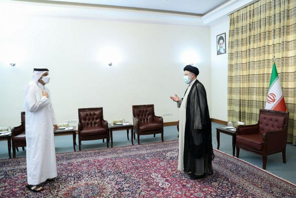 عکس/ دیدار وزیر خارجه قطر با رئیسی
