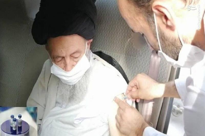 عکس/ آیتالله علویگرگانی واکسن ایرانی کرونا دریافت کرد