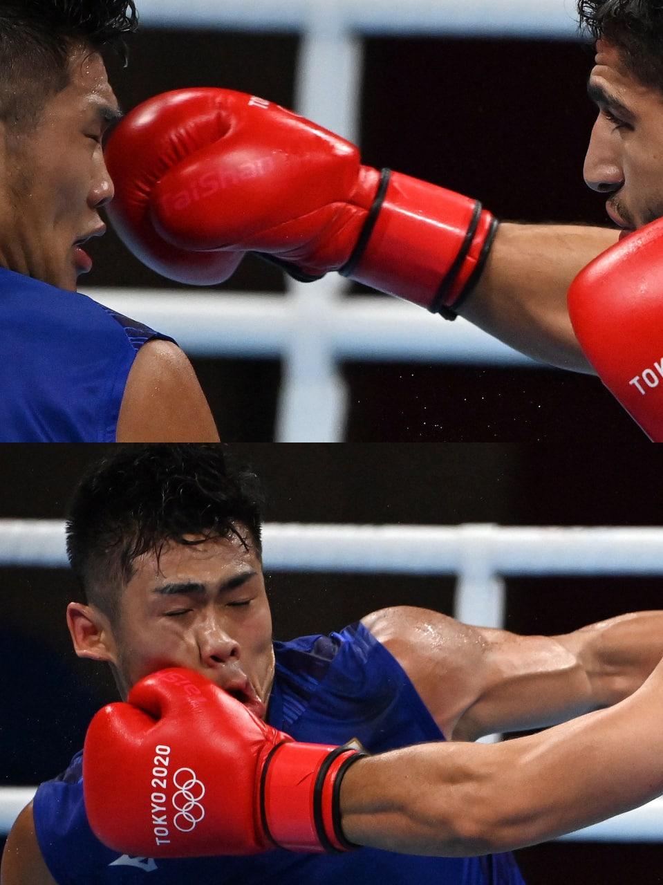 تصاویر منتخب خبرگزاری فرانسه از مسابقه «موسوی» و بوکسور ژاپنی
