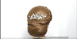 شنیون زیبا برای موها با کمک هنر بافت مو