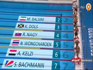 متین بالسینی در رقابت شنای 200 متر رکورد ایران را شکست