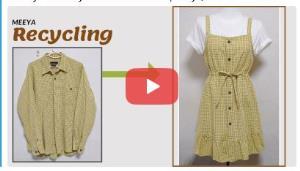 آموزش بازیافت لباس؛ این قسمت تبدیل پیراهن به سارافن