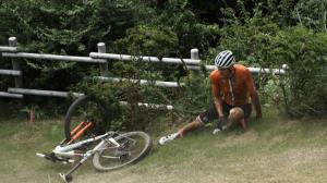 بد شانسی بزرگ دوچرخه سوار هلندی