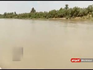 پُر آب شدن مسیر رودخانه کرخه به سمت تالاب هورالعظیم