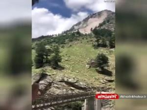 لحظه ترسناک ریزش کوه در هند