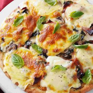 روش تهیه «خوراک قارچ و پنیر» فوری و خوشمزه