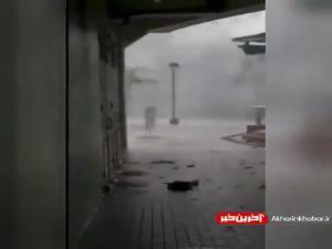طوفان شدید و جاری شدن سیل در چین